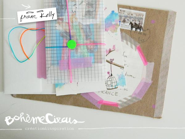 boheme circus - papiers créatifs - happy mail - bohème circus
