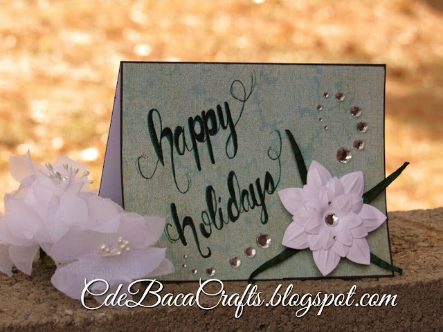 Handmade holiday cards for cardmaking ideas by CdeBaca Crafts blog.