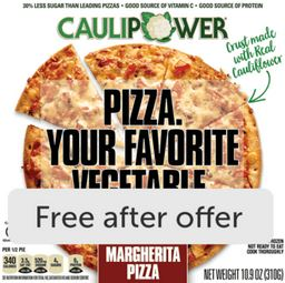 SUBMIT FOR FREE CAULIPOWER Pizza or Crusts for any variety, any size ibotta cashback rebate *HERE* (Exp Aug 9/20, up to $7.99)