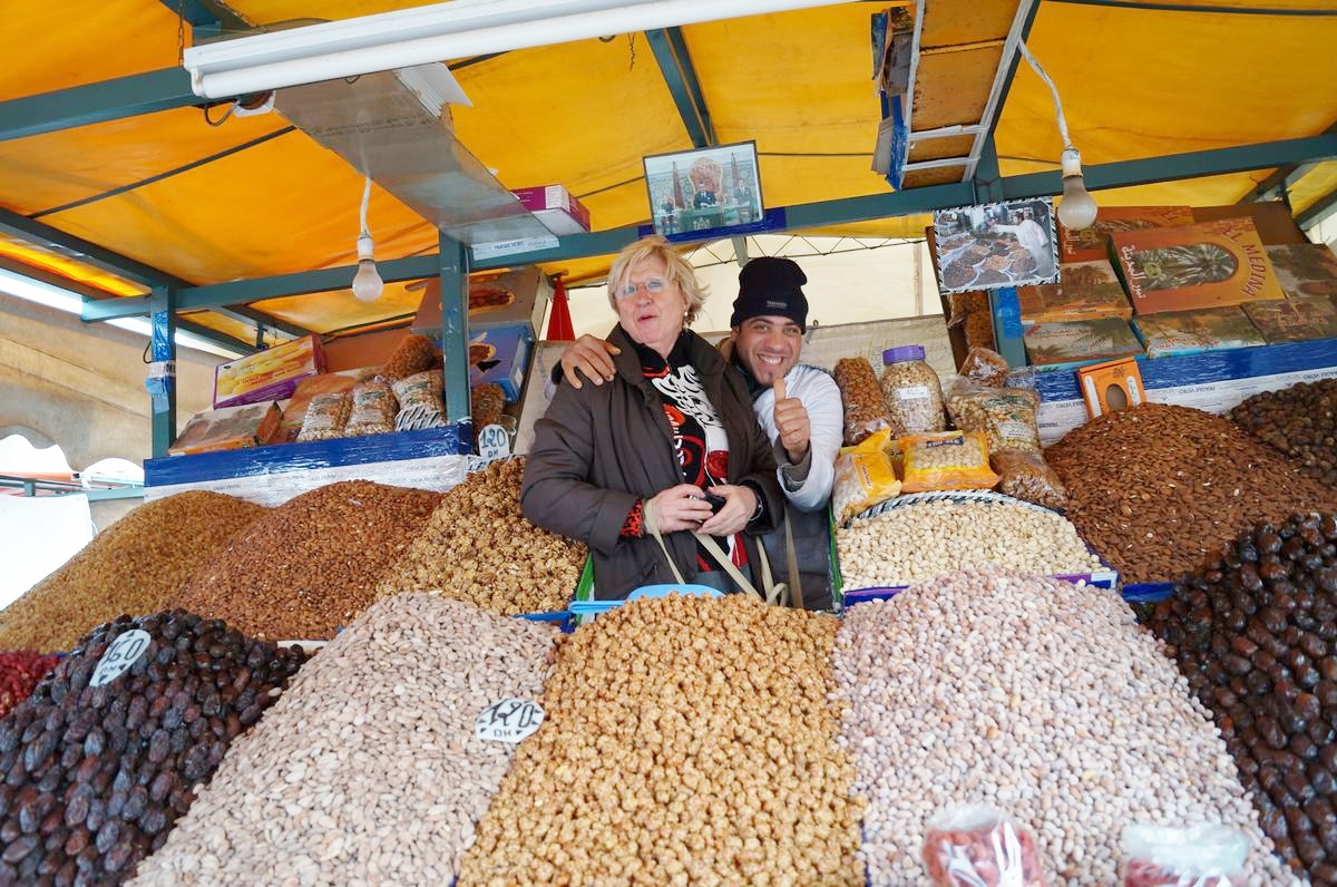 frutos secos, plaza Djemaa el Fna