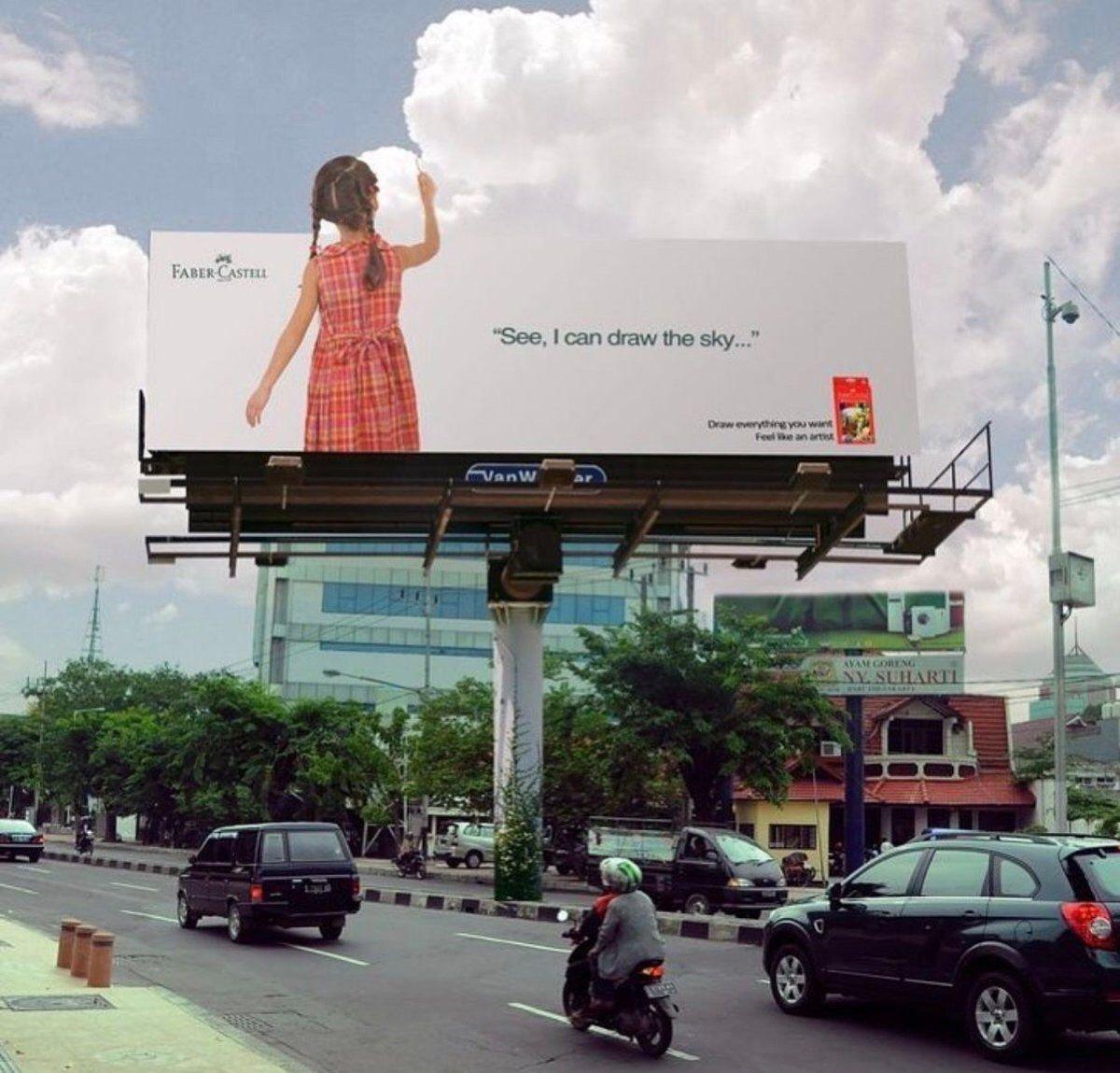 Faber-Castell billboard