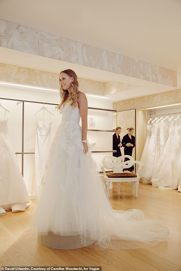 Caroline Wozniacki dazzles in Oscar de le Renta for her wedding