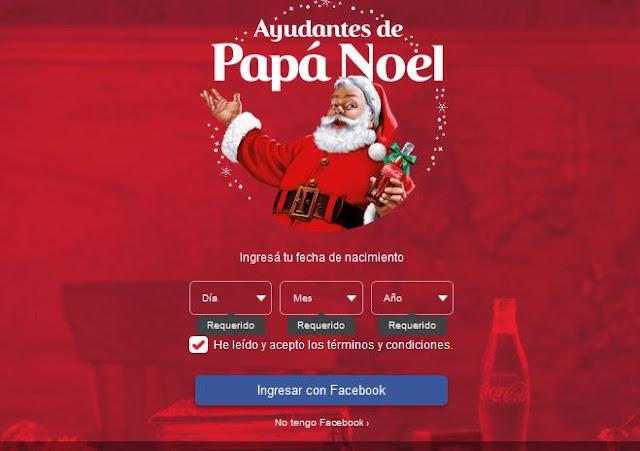 Gratis Crea una llamada de Papa Noel de coca-cola