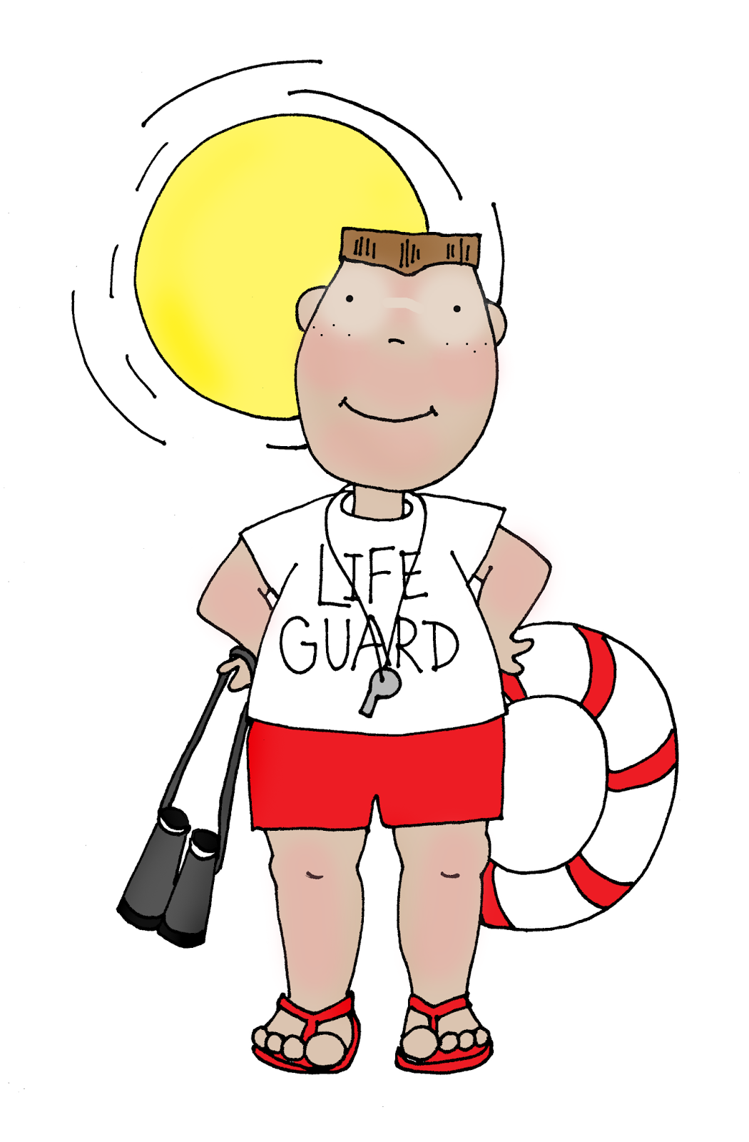 Free Dearie Dolls Digi Stamps: Life Guard