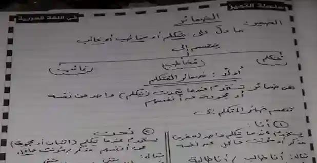 شرح الضمائر وأسماء الإشارة للصف الرابع الابتدائي ترم اول للاستاذ عبد البديع محمد