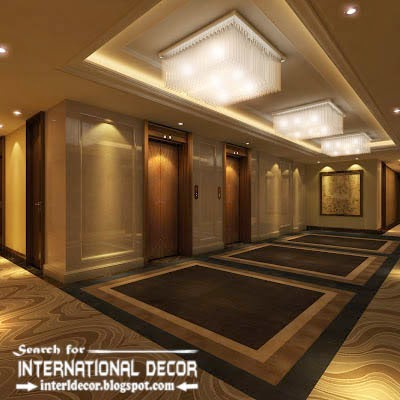 15 best false ceiling designs of plasterboard with lighting for Balcony pop design