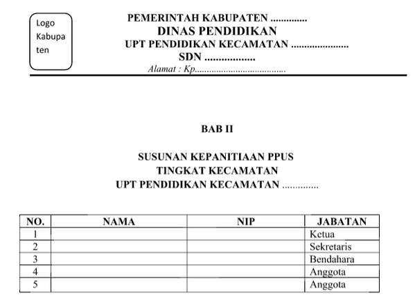 Download Proposal PPUS SD Format Word