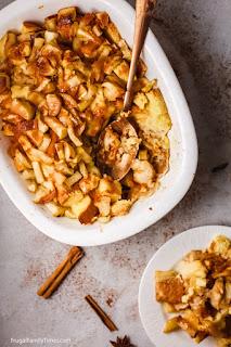 Overnight Caramel Apple French Toast Bake