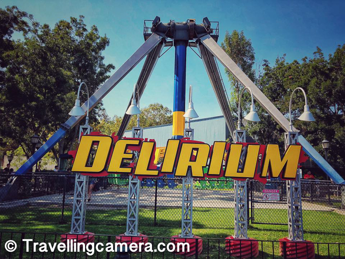 Delirium is another level-5 ride and I tried this one. This one was super awesome and the queue for this ride was not that long. When I say, not that long it only took 10 mins for us in queue. For some of the other rides, waiting time can be 1 hour as well.