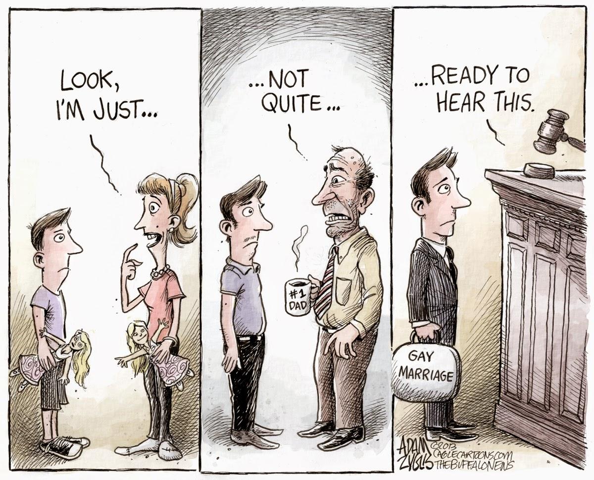 A Little Balance On NY's Gay Marriage Bill: A Cartoon ...  Gay Rights Cartoon