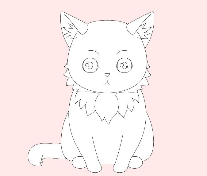 Gambar bulu kucing anime