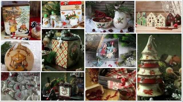 30+ Ξεχωριστές ιδέες για Decoupage σε Χριστουγεννιάτικα Σχέδια