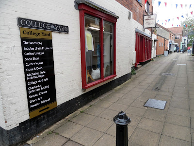 College Yard in Brigg with its variety of niche shops and businesses  - June 2019