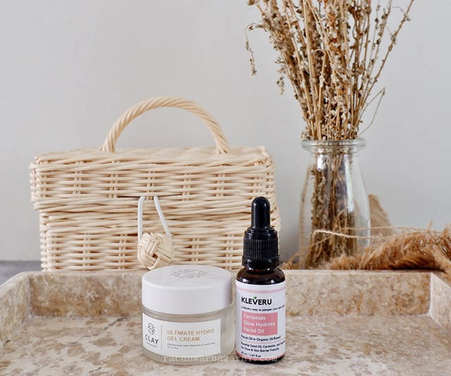 Kleveru Ceramide Glow Hydrate Facial Oil & Clay Botanical Ultimate Hydro Gel Cream