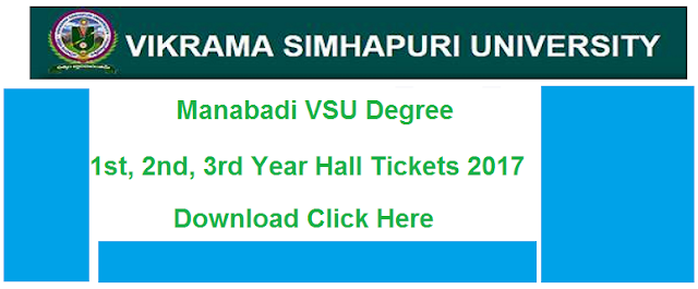 manabadi vsu degree hall tickets 2017