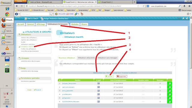 Activer les comptes des membres afin de devenir des utilisateurs actifs sur le forum