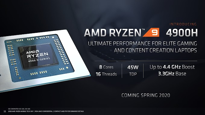 AMD Expands Mobile Processor Lineup, Reveals Ryzen 9 4900H