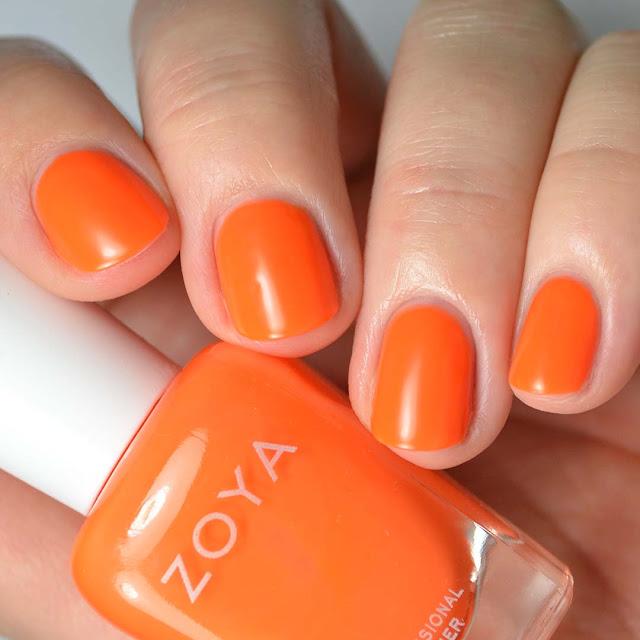 matte neon orange nail polish swatch