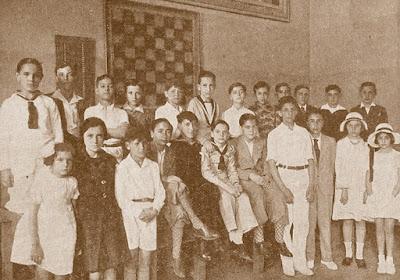 Jugadores participantes en el Campeonato Infantil de Ajedrez Barcelona 1932