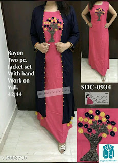 Divine Pretty Rayon Women's Embroidered Kurtis