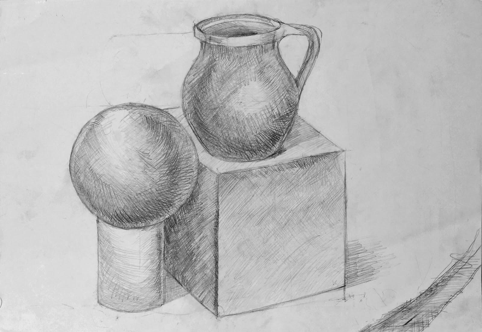 Kiril's Portfolio: Pencil Still Lifes