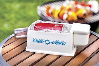 chill-o-matic cools your beverage can in 60 seconds