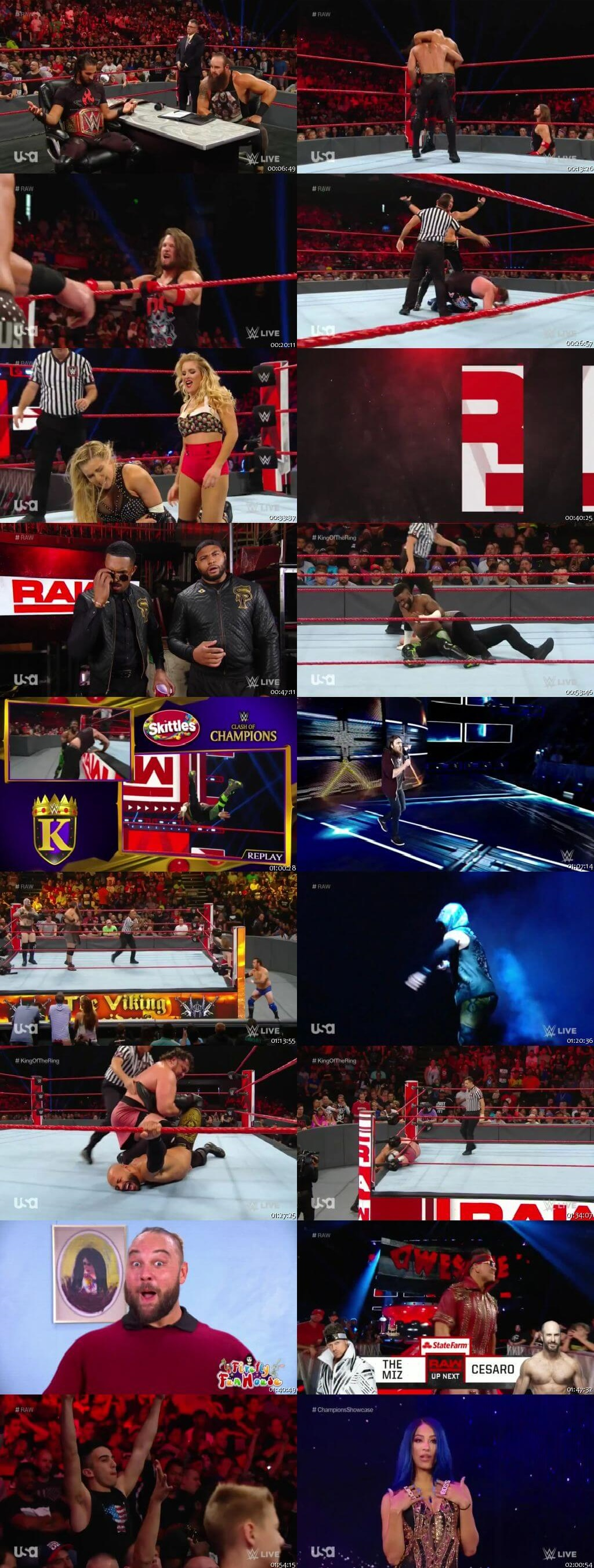Screen Shot Of Wrestling TV Show WWE Monday Night Raw 2nd September Watch Online Free Download