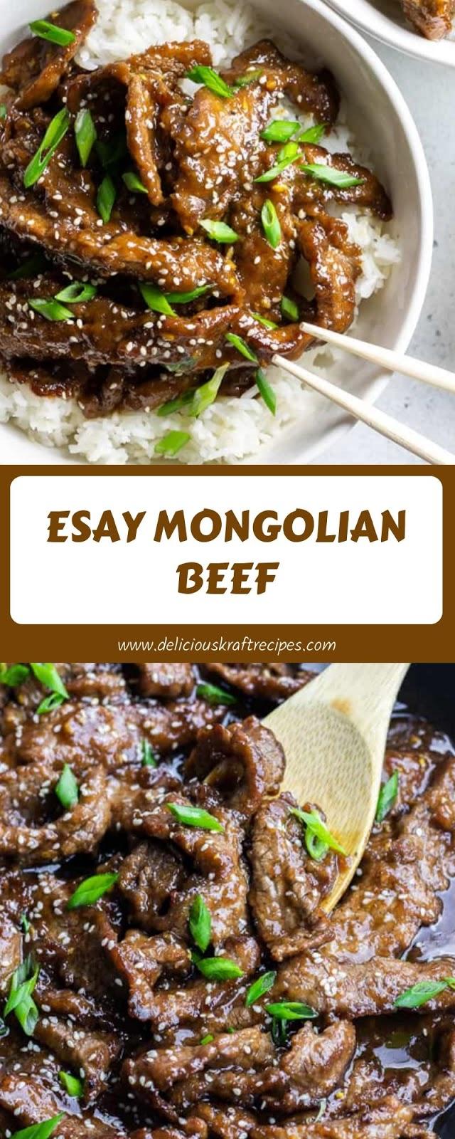 ESAY MONGOLIAN BEEF