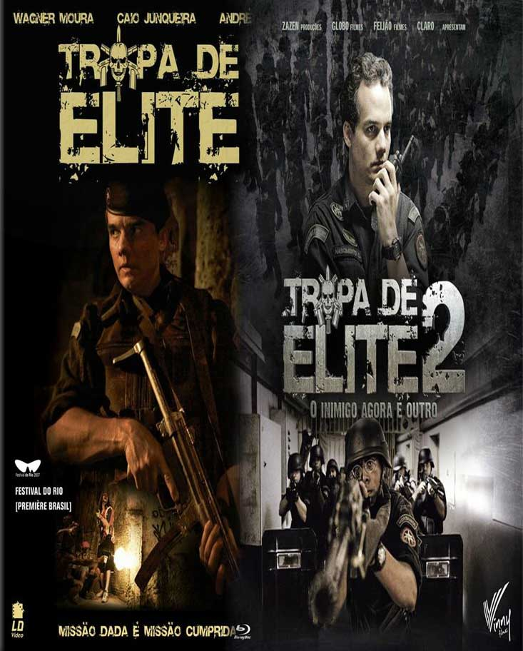 Tropa de Elite 1 e 2 Torrent – Blu-ray Rip 720p e 1080p Nacional (2007-2010)