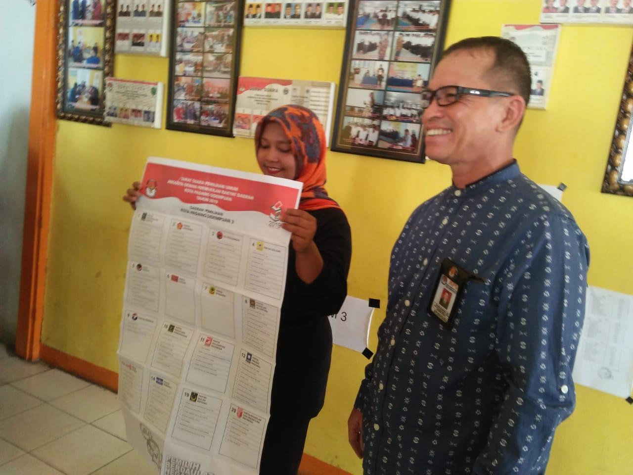Hasil Sortir Lipat, KPU Kota Padangsidimpuan Temukan 877 Surat Suara Rusak