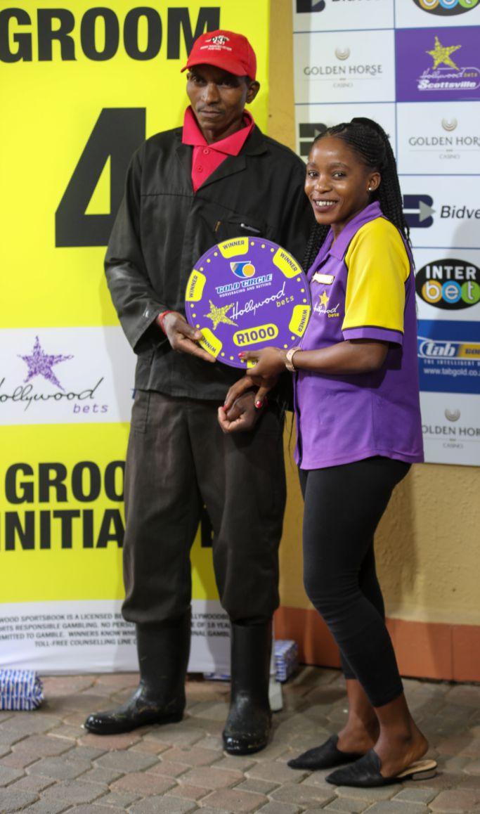 Grooms Initiative Winner - 15th December 2019 - Race 4 - Charlie Mdikana - HAMMAM