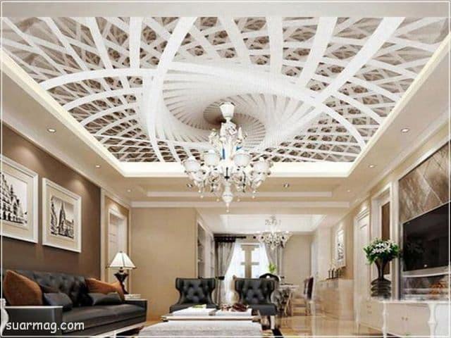 ديكورات جبس اسقف راقيه كلاسيك 9   Classic Gypsum Ceiling 9