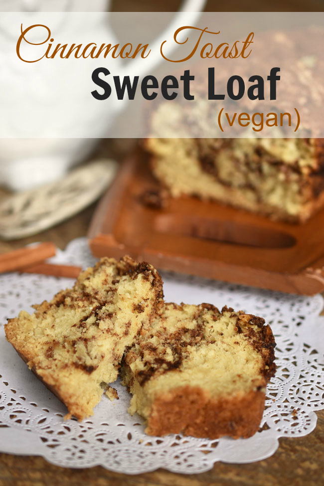Cinnamon Toast Sweet Loaf - a fluffy and delish vegan snack bread that pays tribute to both cinnamon toast and cinnamon rolls