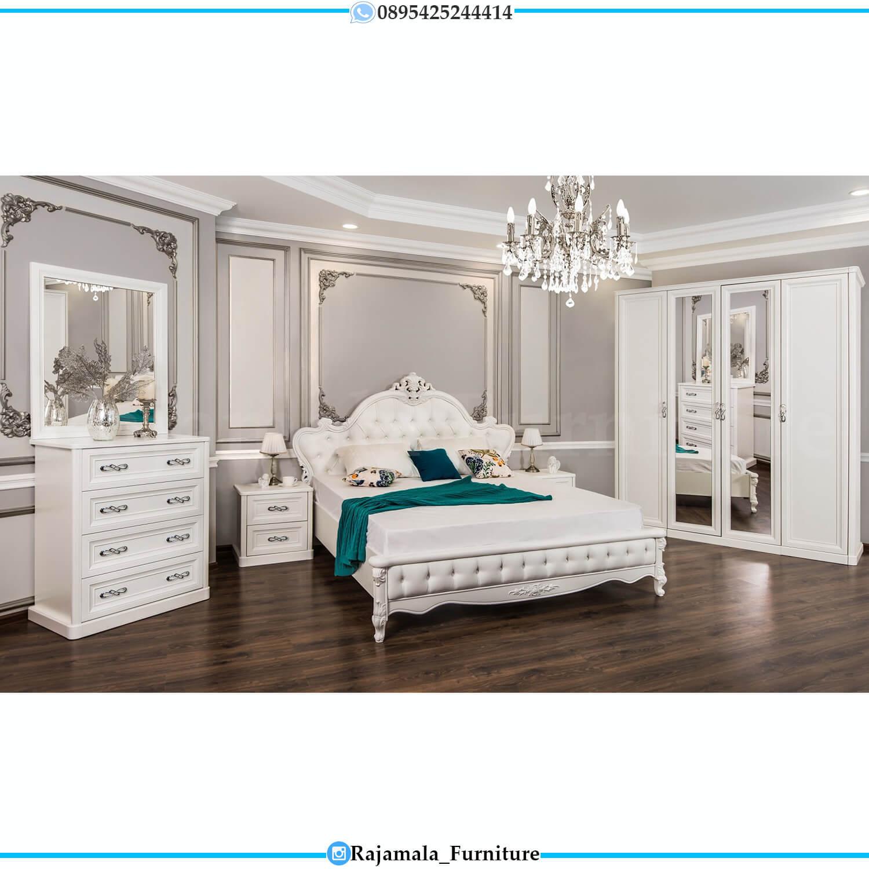 Tempat Tidur Mewah Putih Ukir Jepara Luxury Carving Design RM-0226