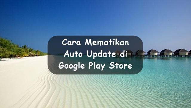 Cara Mudah Mematikan Auto Update di Google Play Store