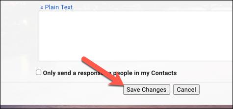 """انقر فوق """"حفظ الإعدادات"""" لتطبيق إعدادات عرض البريد الإلكتروني الجديدة في Gmail."""