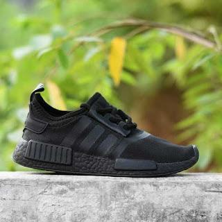 sepatu anak adidas nmd full black