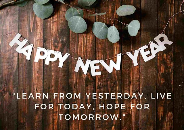 Happy New Year Learn From Yesterday - Quotes Top 10 Updated