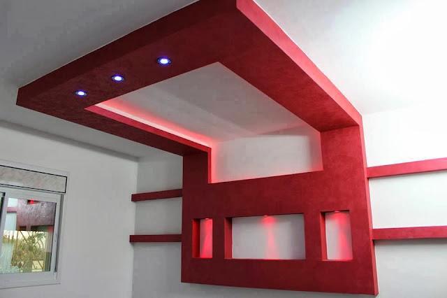 Chambres décorées de platre