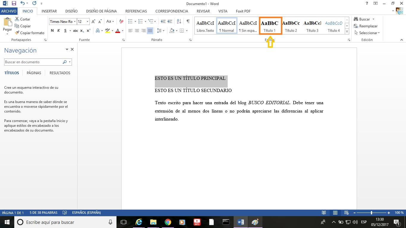 Funcionalidades básicas del Word 2013
