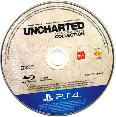 Label Uncharted The Nathan Drake Collection PS4