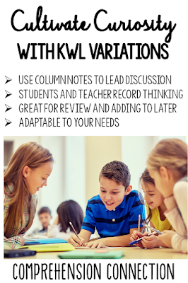 There are many variations on KWL, and they work very well for guiding curiosity. Check out this post for more information.