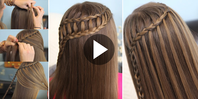 How To Create Waterfall & Ladder Braid Hairstyle - See Tutorial