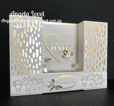 Stampin' Up! Born to be loved card side view by Angela Lovel, Angela's PaperArts