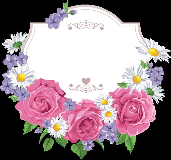 Flower Cartoon Greeting card, Flower Border, border, frame, flower Arranging png free png