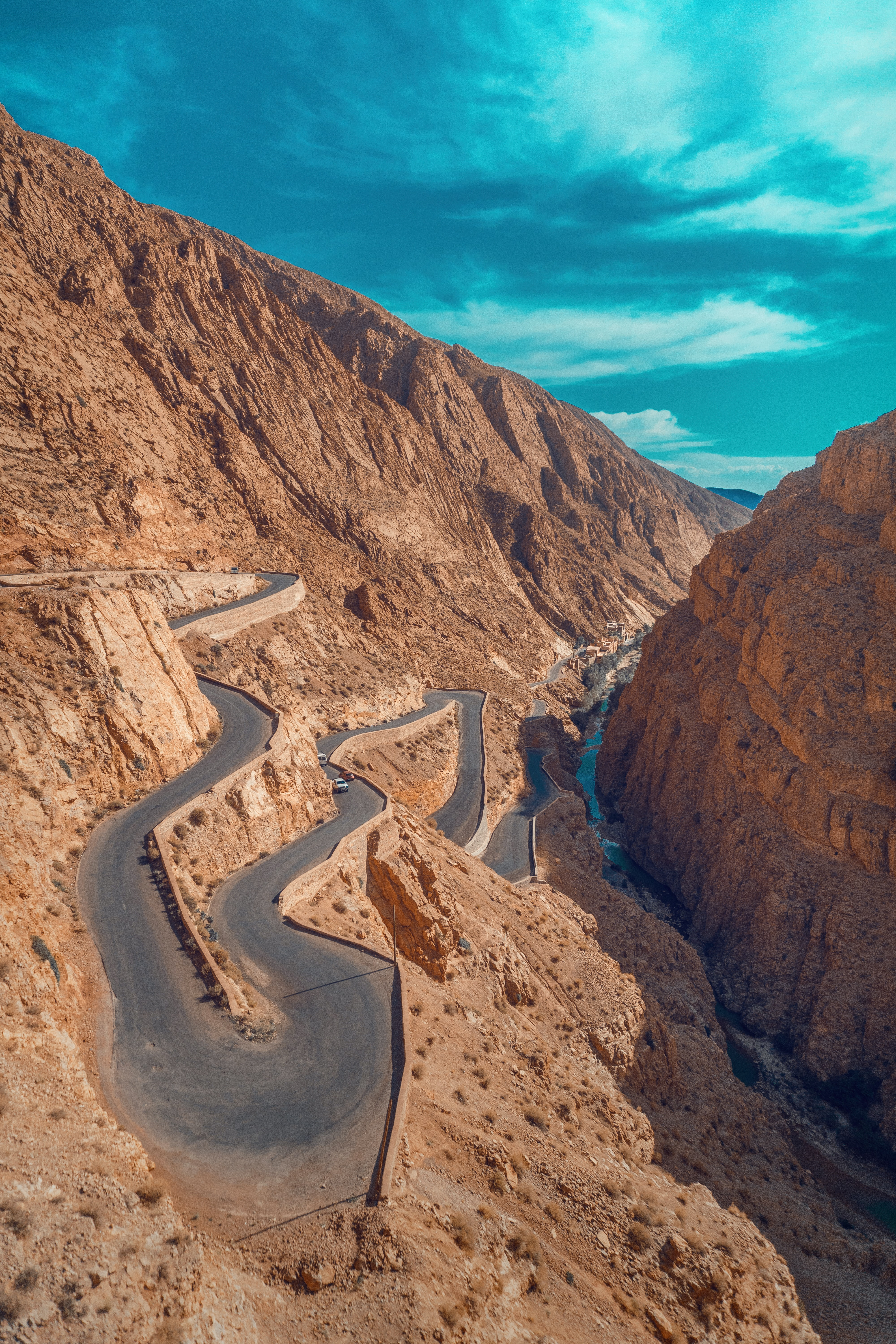 rugged wadi gorges carved out by the Dadès River in Morocco