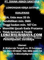 Loker Surabaya Terbaru di PT. Diana Abadi Santosa Juni 2020
