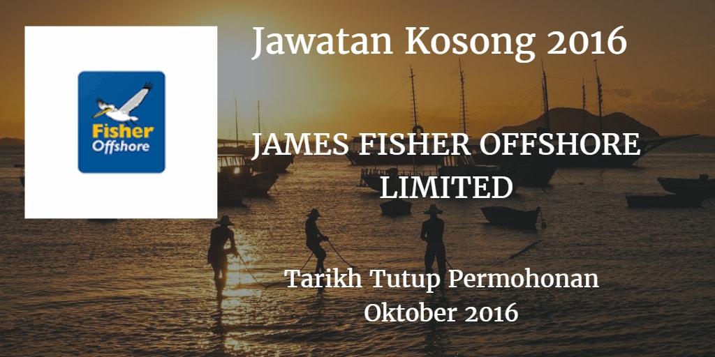 Jawatan Kosong JAMES FISHER OFFSHORE LIMITED Oktober 2016