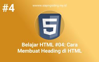 CARA MEMBUAT HEADING DI HTML