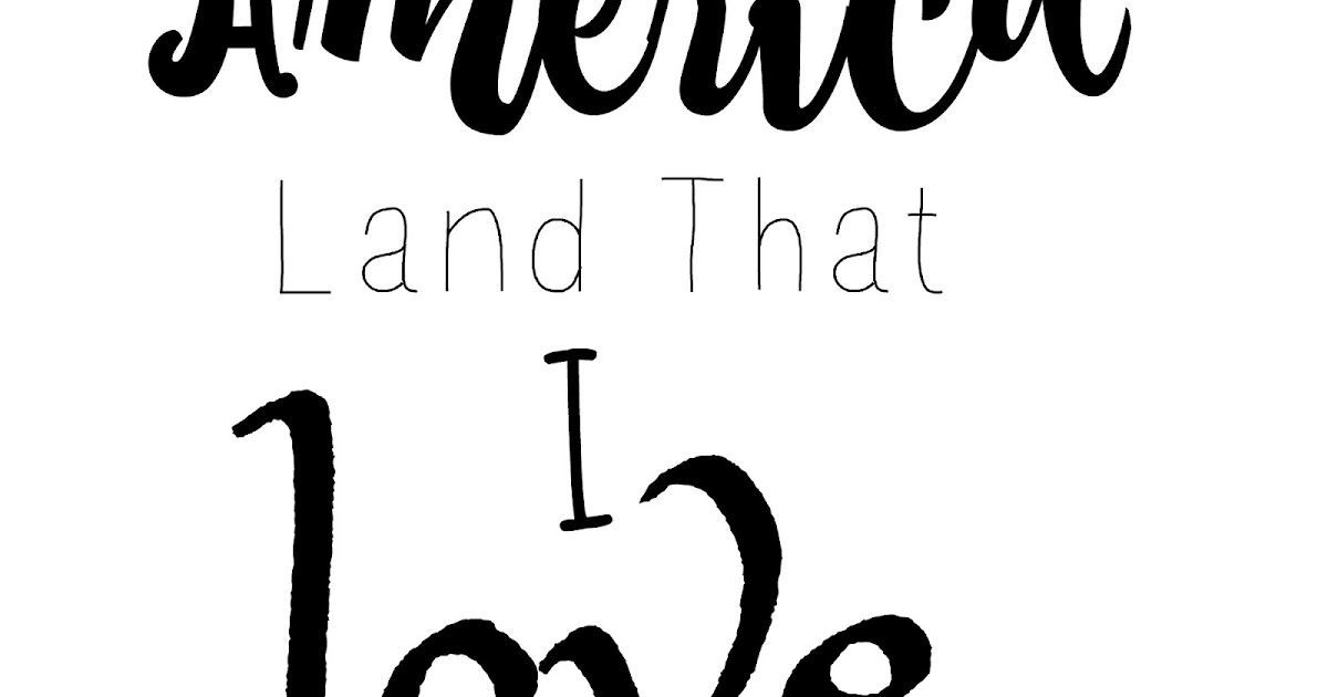 Download 7 Kids and Us: America Land that I Love SVG File FREE for ...